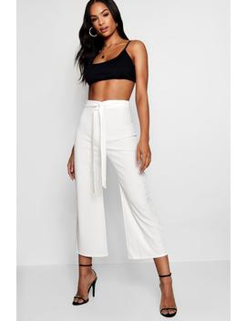 Tall Belted Culottes by Boohoo
