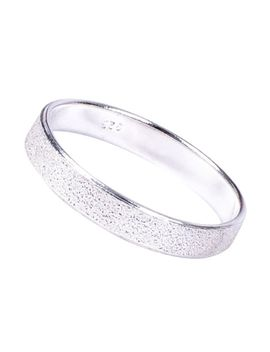New 925 Sterling Silver Sparkly  Speckled 4mm Band  Ring  In Sizes G Z by Ebay Seller