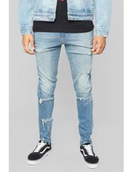 Joe Skinny Jeans   Medium Wash by Fashion Nova