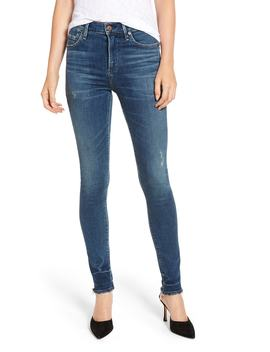 Rocket High Waist Raw Release Hem Skinny Jeans by Citizens Of Humanity