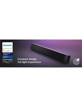 Hue Play White & Color Ambiance Smart Led Bar Light   Black by Philips