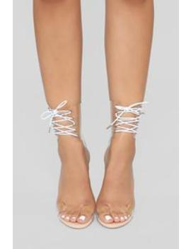 Did I Ask You Heeled Sandal   Nude by Fashion Nova