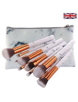 10pcs Marble Make Up Brushes Set Blusher Face Powder Foundation Eyeshadow Tools by Ebay Seller