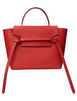 Belt Micro Red Cross Body Bag by Céline