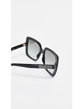 Acetate Square Sunglasses by Gucci