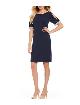 Pearl Sleeve Shift Dress by Karl Lagerfeld Paris