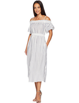 Paisley Off The Shoulder Striped Dress by American Rose