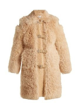 Embellished Shearling Coat by Red Valentino