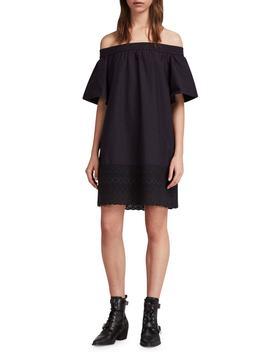 Livia Trixi Off The Shoulder Cotton Dress by Allsaints