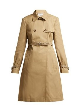 Studded Double Breasted Cotton Blend Trench Coat by Red Valentino
