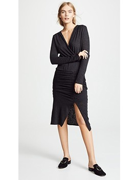 Ruched Midi Dress by Lanston