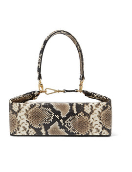 Olivia Snake Effect Leather Tote by Rejina Pyo