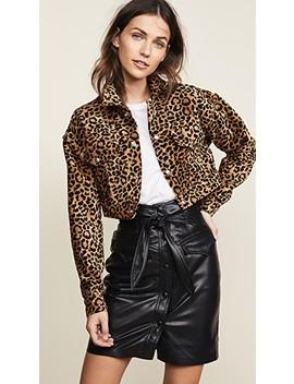 Leopard Cropped Jacket by Re/Done