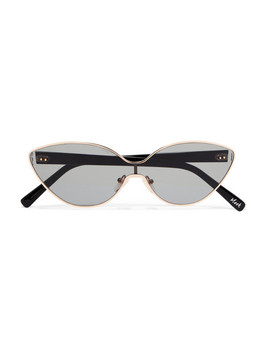 Mack Cat Eye Gold Tone Sunglasses by Elizabeth And James