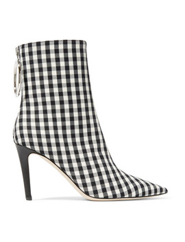 Gingham Canvas Sock Boots by Monse