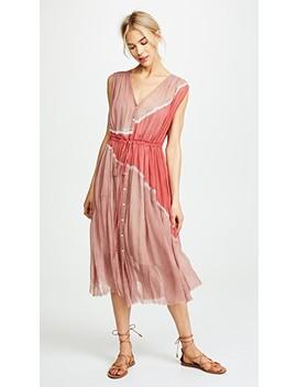 Button Up Desert Dress by Raquel Allegra