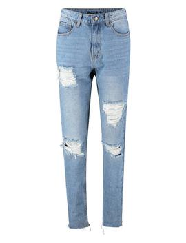 Distressed Mom Jean by Boohoo