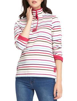Joules Funnel Neck Sweatshirt, Cream/Multi by Joules