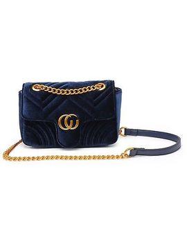 New Women Ladies Shoulder Quilted Handbag Gold Chain Velvet Cross Body Bag by Ebay Seller