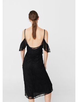 Abito Off Shoulder Pizzo by Mango