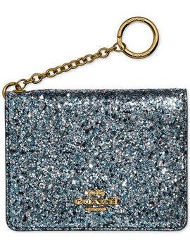 Glitter Key Ring Card Case by Coach