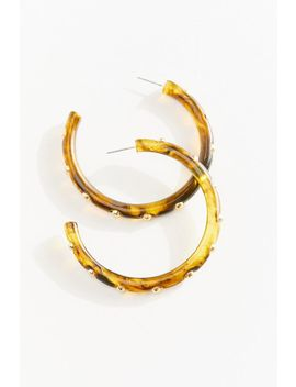 Studded Tortoise Hoop Earring by Urban Outfitters
