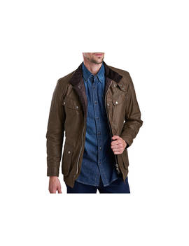 Barbour International Duke Wax Jacket, Bark by Barbour
