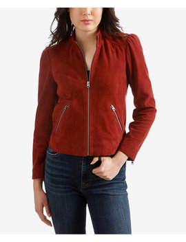 Suede Puff Sleeve Jacket by Lucky Brand
