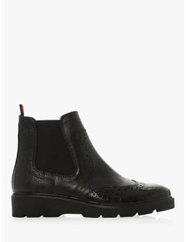 Dune Palomo Leather Chelsea Boots, Black by Dune