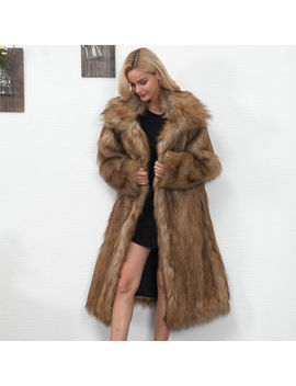 women-winter-fashion-luxury-faux-fur-parka-outwear-overcoat-long-jacket-coat by unbranded