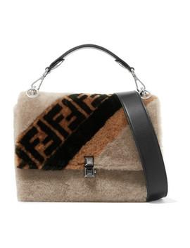 Kan I Shearling Shoulder Bag by Fendi