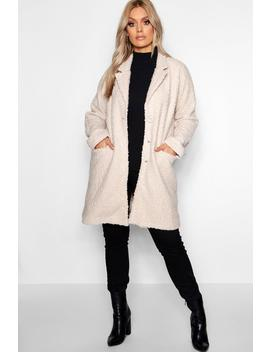 Plus Twisted Wool Look Oversized Coat by Boohoo