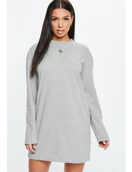 Gray Long Sleeve T Shirt Dress by Missguided