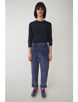 Corduroy Trousers Sky Blue by Acne Studios