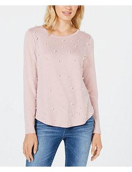 I.N.C. Imitation Pearl Sweatshirt, Created For Macy's by Inc International Concepts