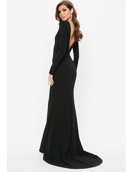 Black Open Back Maxi Dress by Missguided