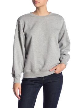 Faux Pearl Embellished Sweatshirt by Ten Sixty Sherman