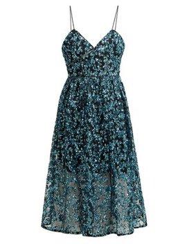 Azaelea Sequinned Midi Dress by Self Portrait