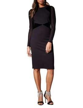 Mesh Sleeve Dress by Karen Millen