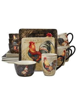 Certified International Gilded Rooster 16 by Certified International