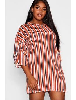 Plus Striped T Shirt Dress by Boohoo