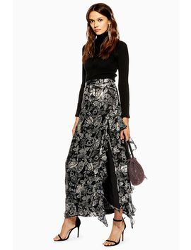 Feather Embellished Maxi Skirt by Topshop