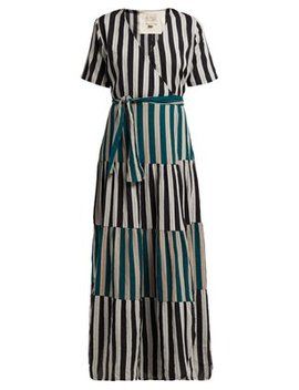 Ellis Striped Cotton Wrap Dress by Ace & Jig