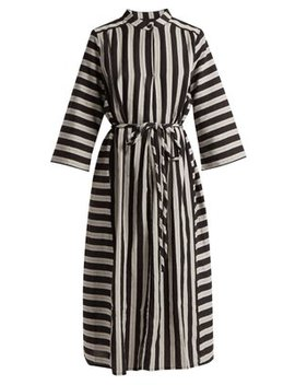 Casey Striped Cotton Midi Dress by Ace & Jig