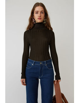 Fitted Turtleneck Dark Brown by Acne Studios