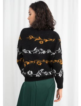 Floral Wool Blend Sweater by & Other Stories