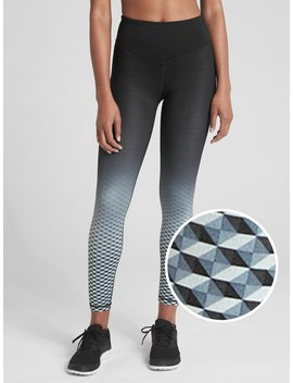 G Fast Blackout V Waist Ombre Print Leggings by Gap