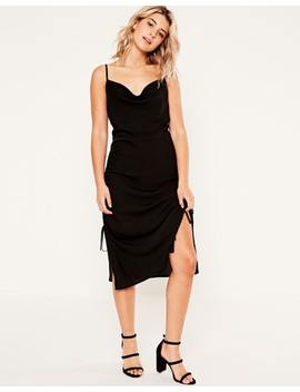 Ruched Midi Dress by Glassons