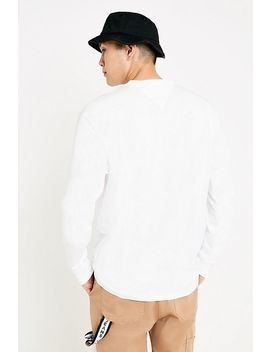 Tommy Jeans Repeat Signature White Long Sleeve T Shirt by Tommy Jeans