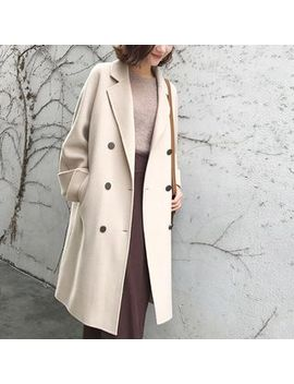 Hecate   Notch Lapel Double Breasted Coat by Hecate